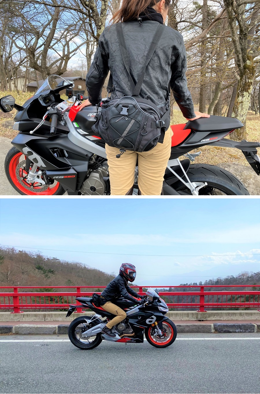 クシタニのヒップバッグは、リュックとして肩と腰に負担を分散することもできる優れもの。