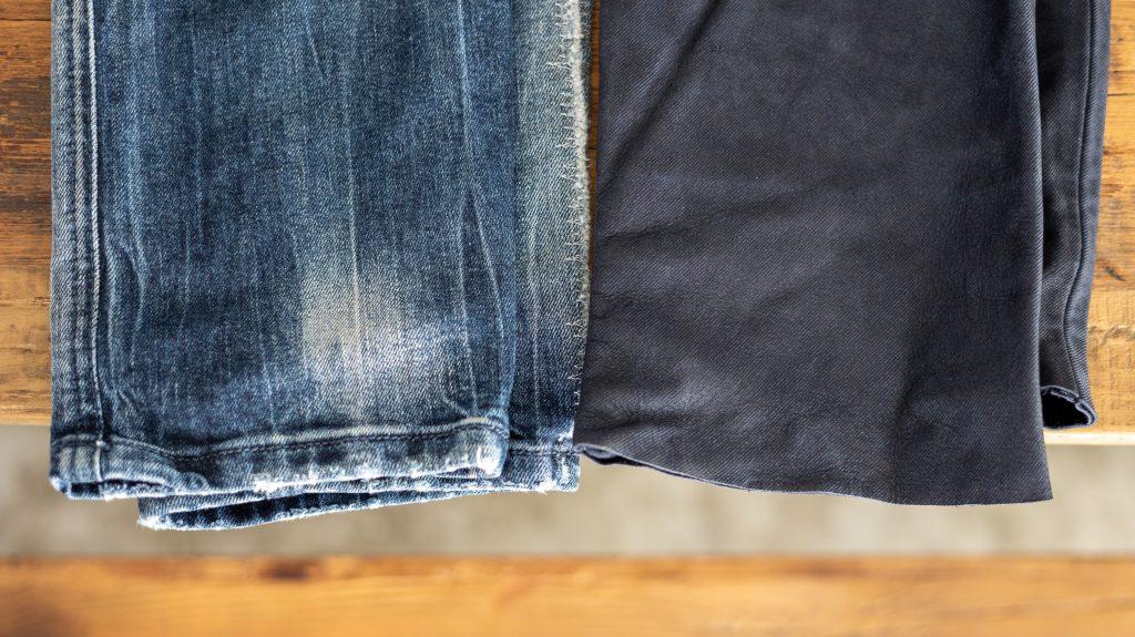 エクスプローラージーンズの裾丈と裾処理