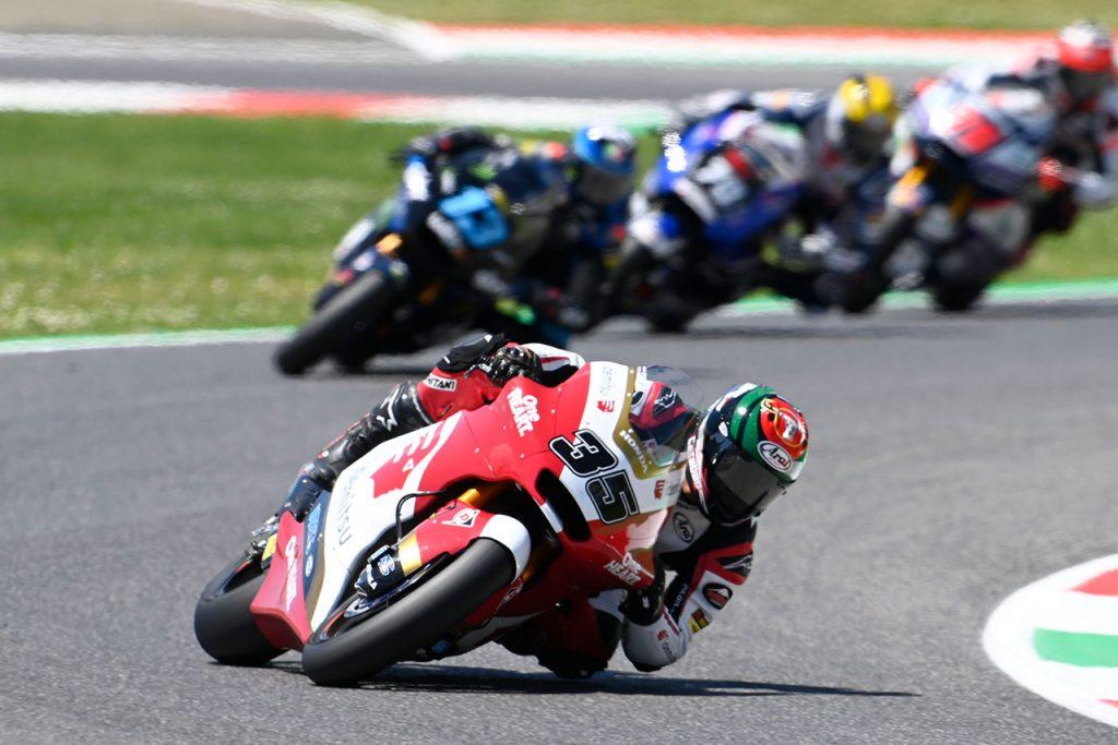 moto2クラスにイデミツホンダチームアジアから参戦のチャントラ選手は、2度の接触により厳しいレースに